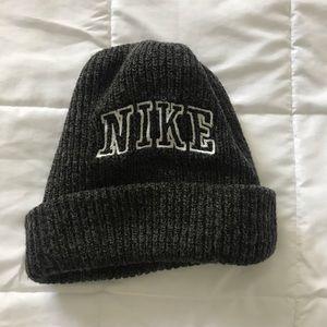 Grey Vintage Nike Knit Beanie